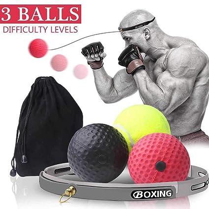 Amazon.com: Pelota de boxeo Reflex, 3 pelotas de ...