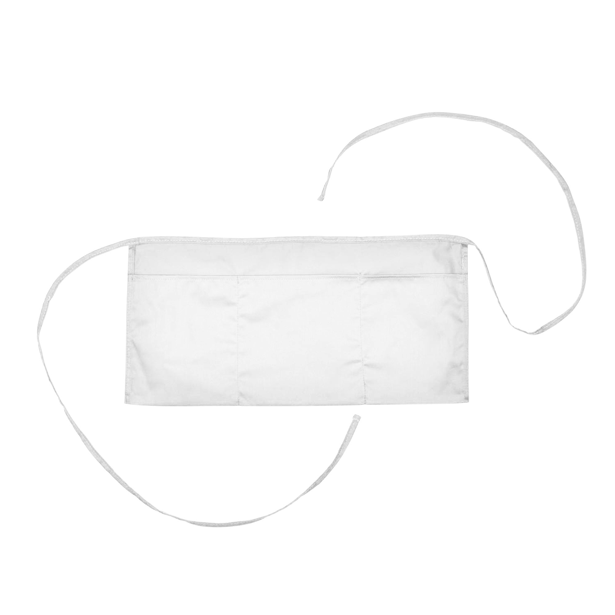 Waist Aprons Commercial Restaurant Home Bib Spun Poly Cotton Kitchen (3 Pockets) in White 100 Pack
