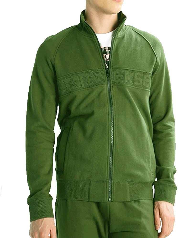 Converse Homme Mesh Rib Logo Track Jacket, Vert Vert Vert