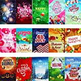 15 Non-See Through Double-Sided Colorful Seasonal Garden Flag Set, 12x18 inches, Decorative Flag Collection for Outdoors