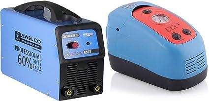 Soldador inverter Awelco Easy 150 + Cargador Compresor De Arranque 6 – 12 V