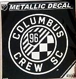 Columbus Crew SC 6'' Silver Metallic Mirrored Style Vinyl Auto Decal MLS Soccer Football Club
