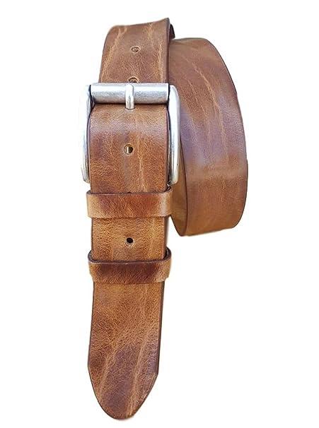 7810586e6a ESPERANTO Cintura in cuoio di toro 4cm, bottalato e stropicciato (3  varianti colore)