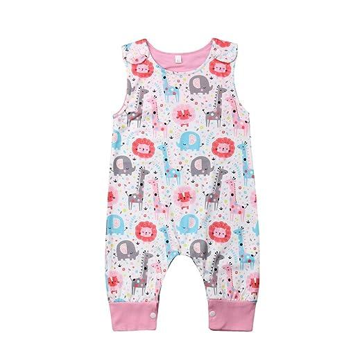 c9bbf2de74 Newborn Baby Boys Girls Animal Dinosaur Romper One Piece Jumpsuits  Sleeveless Summer Outfits