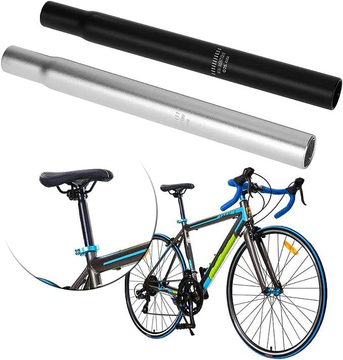 25.4mm Bike Seat Post 250mm Long Black Seatpost For Mountain Bike Fixed Gear