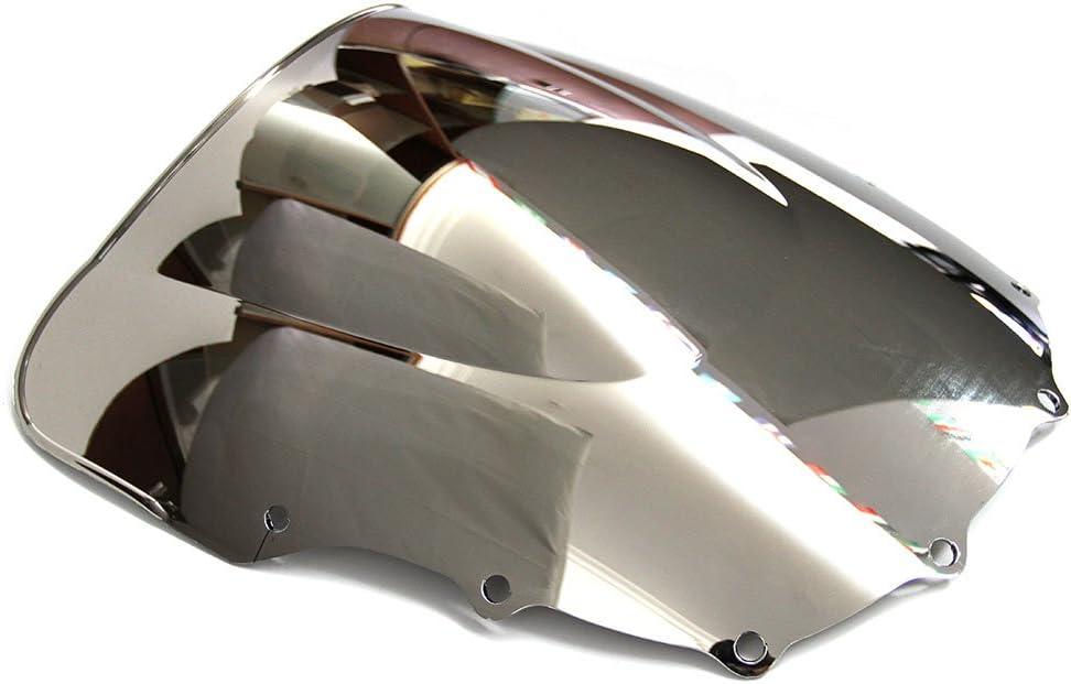 Black Motorcycle Double Bubble Windshield Wind Deflectors Motorbike Screen Airflow For Kawasaki ZZR 600E ZX400N ZZR400 ZZR600