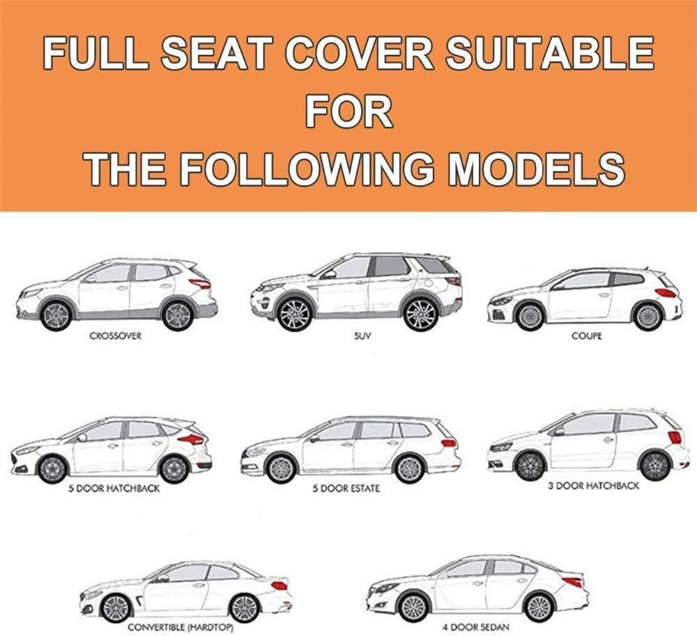 Farbe: rot 99/% des Autos ist f/ür die Verwendung geeignet Universal-Autositzbezug ,Grau Universalkissen in Gecko-Stickerei