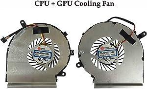 Todiys CPU + GPU Cooling Fan for MSI GE62 GL62 GE72 GL72 GP62 GP72 PE60 PE70 Series MS-16J1 MS-16J2 MS-16J3 MS-16J5 MS-16J8 MS-16JB MS-16J9 MS-1791 MS-1792 MS-1795 PAAD06015SL N303 PAAD06015SL N302