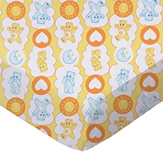 product image for SheetWorld Fitted 100% Cotton Percale Pack N Play Sheet 29 x 42, Care Bears Yellow, Made in USA