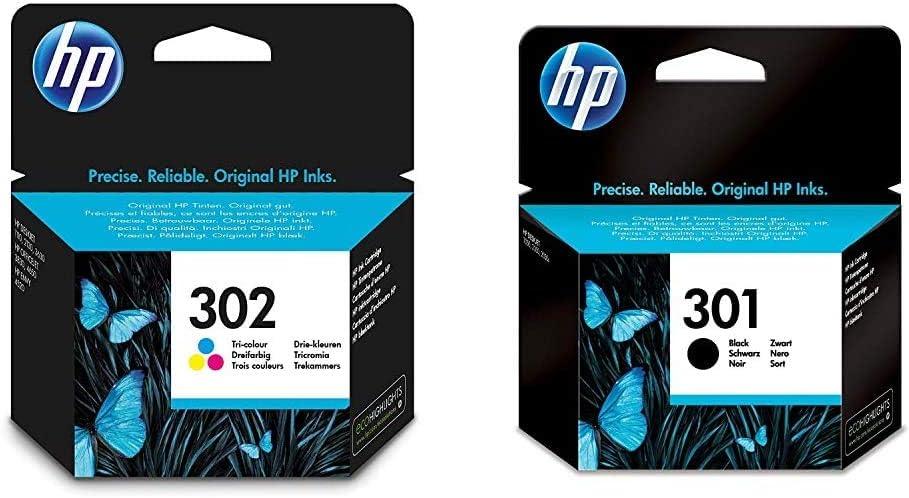 HP 302 - Cartuchos de Tinta Negro y Tri-color, Pack de 2: Amazon ...
