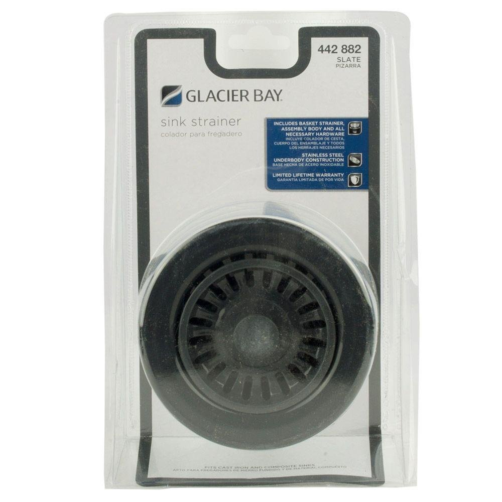 Glacier Bay 4.5 in. Kitchen Sink Strainer and Basket in ...