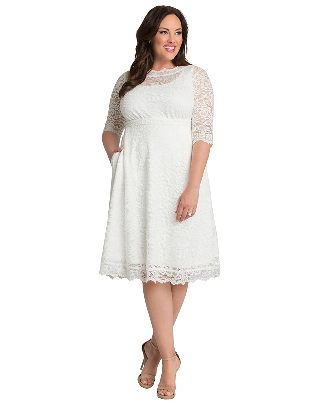 Kiyonna Womens Plus Size Pretty In Lace Wedding Dress At Amazon