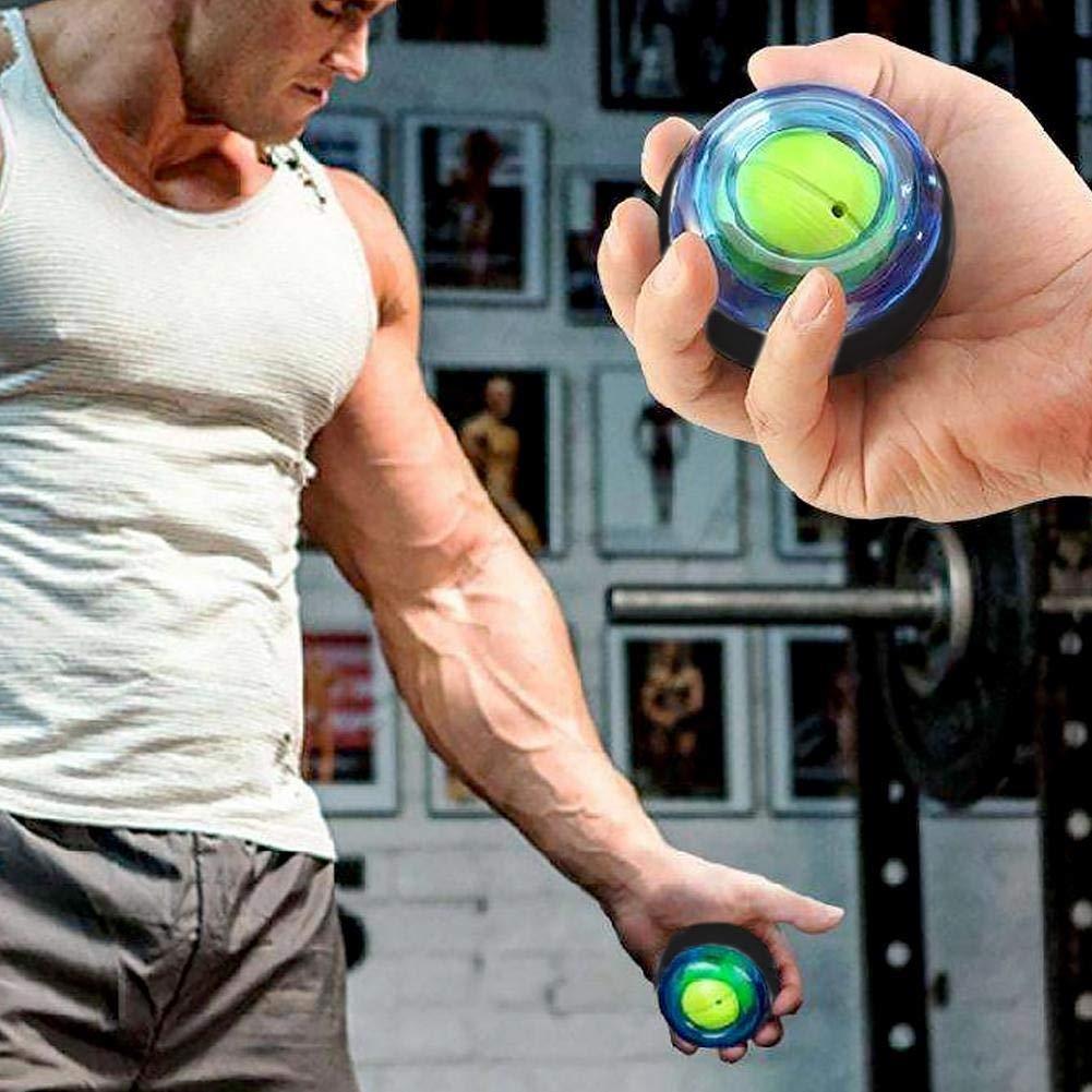 Exercise Power Ball Queenic Wrist Trainer Wrist and Forearm Booster b/ásicamente activan la Bola de giroscopio de Ajuste Fino para Fortalecer los m/úsculos y los Huesos