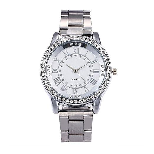 BBestseller Reloj para Mujer,Moda Metal del Diamante Lujo Venda Cuarzo Analógico Reloj Pulsera Impermeable Reloj Fitness (B): Amazon.es: Relojes