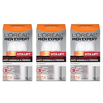 435d7ed8b67c L'Oreal Paris Skin Care Men Expert Vita Lift Anti-Wrinkle and Firming Daily  Moisture, 1.6 Ounce, 3 Count