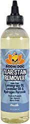 New Natural Tear Eye Stain Remover   Remove Stains and Clean Residue for Dogs and Cats   Safe Gentle Cleaner Solution for Fur and Delicate Coats   Made in USA - 1 Bottle 8oz (240ml)