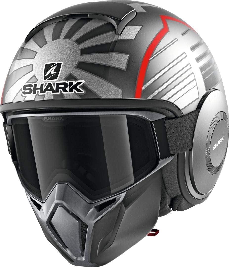 Gris//Rojo SHARK NC Casco per Moto Hombre L