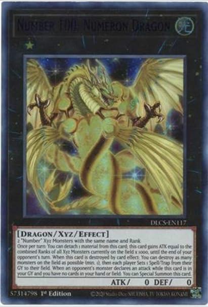 Numeron Dragon DLCS-EN117 Ultra Rare Blue 1st NM Yugioh Number 100