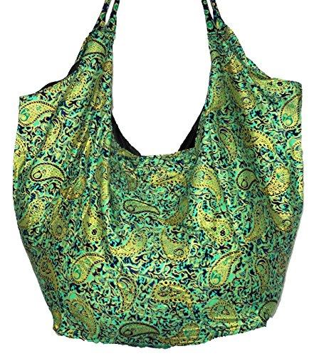 ZEN SHOP, Borsa a spalla donna verde verde 65 X 50 cm