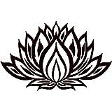 Lotus Flower Wall Decal Yoga Studio Vinyl Sticker Mandala Decals Bedroom Indian Ornament Namaste Home Decor Boho Bohemian Bedding T171