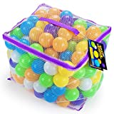 200 Space Adventure Soft Ball Pit Balls with Fun Illustrations and Mesh Carrying Case by Imagination Generation