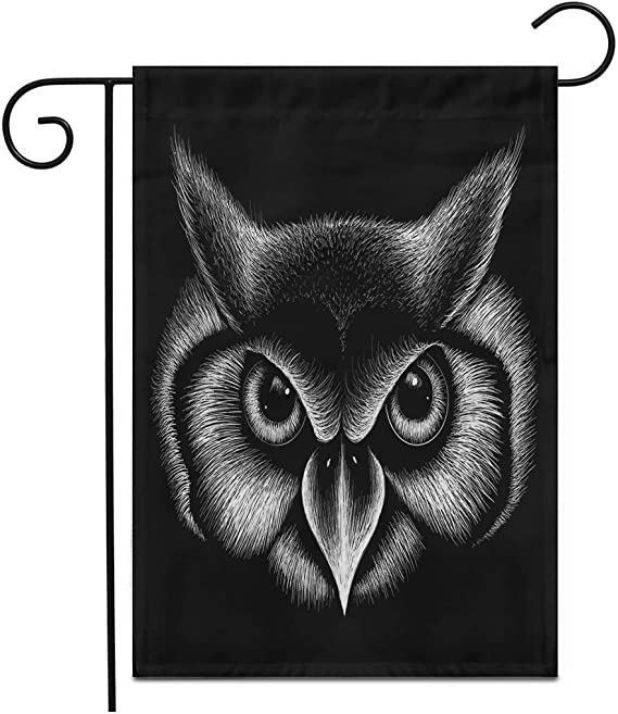 12 5 X 18 Garden Flag The Logo Owl For Design Or Outwear Hunting Style Owl Outdoor Double Sided Decorative House Yard Flags Amazon Co Uk Garden Outdoors