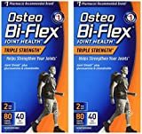 Osteo Bi-Flex Advanced Triple Strength, 80 Coated Caplets (Pack of 2)