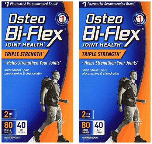 Osteo Bi-Flex Advanced Triple Strength, 80 Coated Caplets (Pack of 2) Osteo Bi Flex Caplet Vitamins