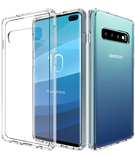 Galaxy S10 Plus Case,Samsung Galaxy S10 Plus Case,Galaxy S10+ Case,Asmart See-through Galaxy S10 Plus Phone Case Clear Crystal Cover Slim Transparent ...