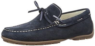 Geox Men's U Monet 28 Slip-On Loafer, Navy, 46 EU/12.5