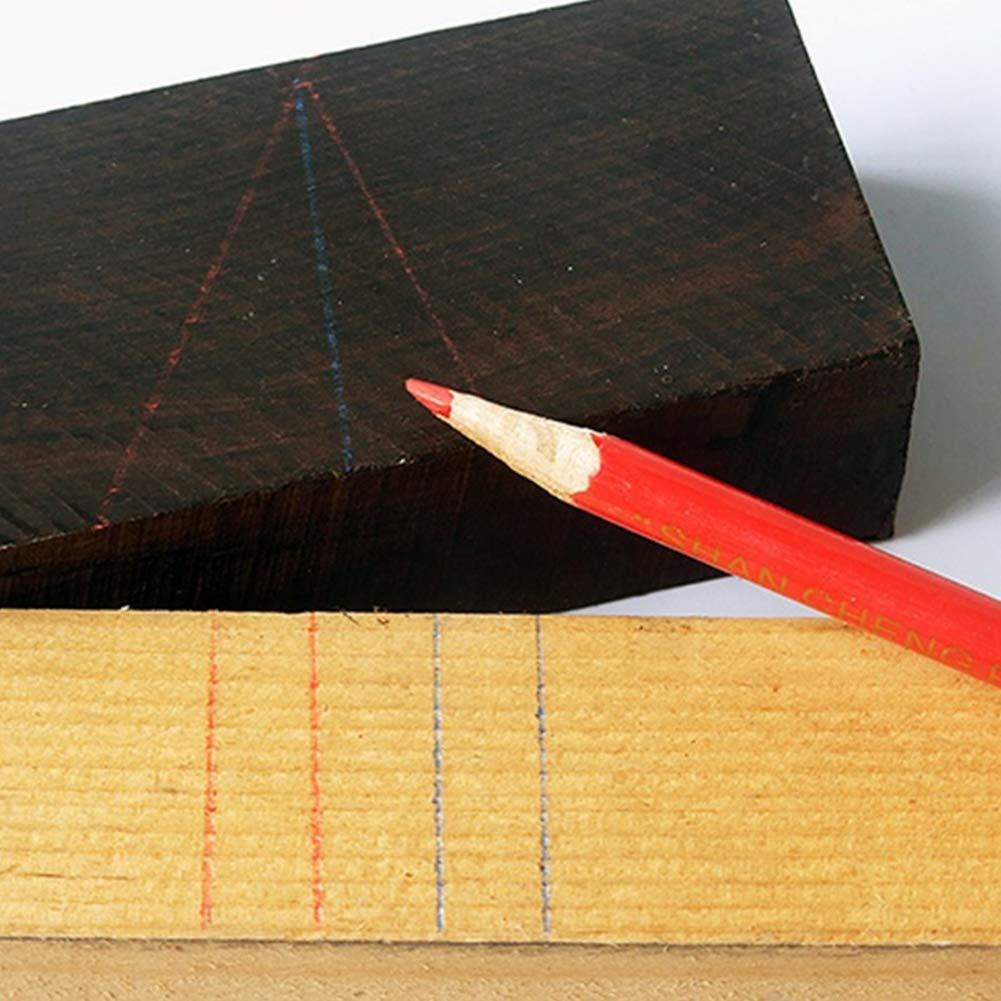 Holzbearbeitungsschreiber Strichzeichnungswerkzeug Zum Markieren Auf Holz Und Stein Zimmermannsstifte Holzbearbeitungsstiftset Mit Roter Mine 50 St/ück