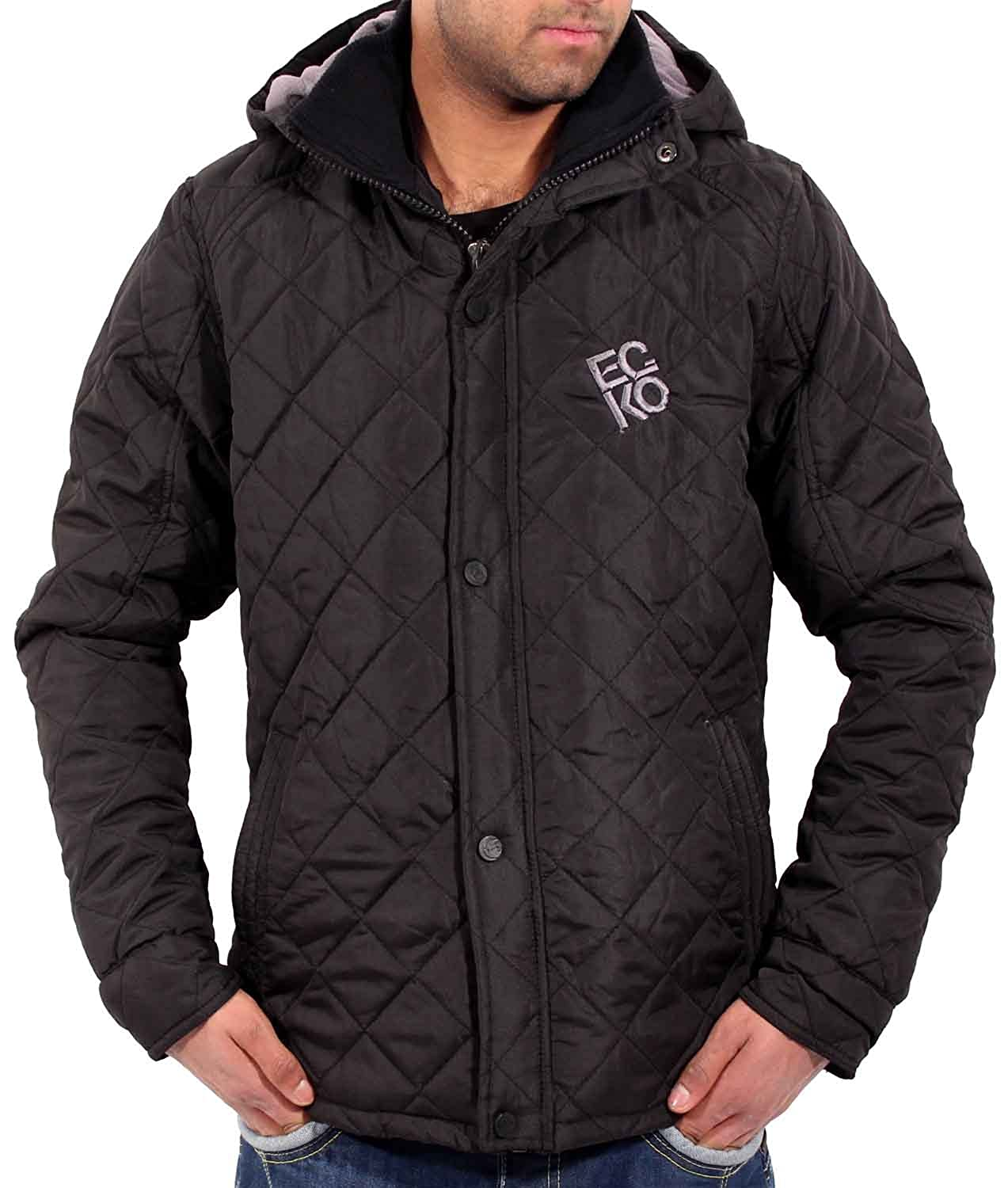 Ecko Mens Boys Warm Varsity Bomber Short Parka Hooded Quilted Style Jacket