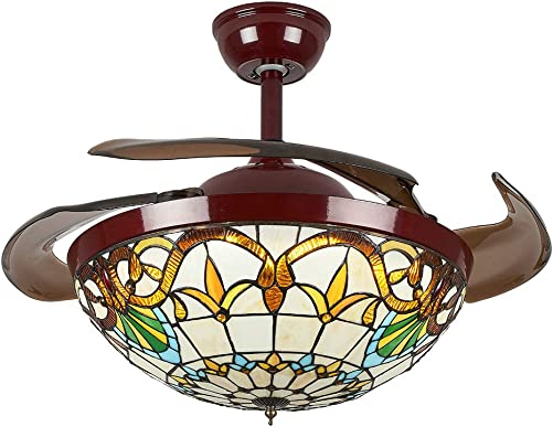 42 INCH Tiffany Style Ceiling Fan