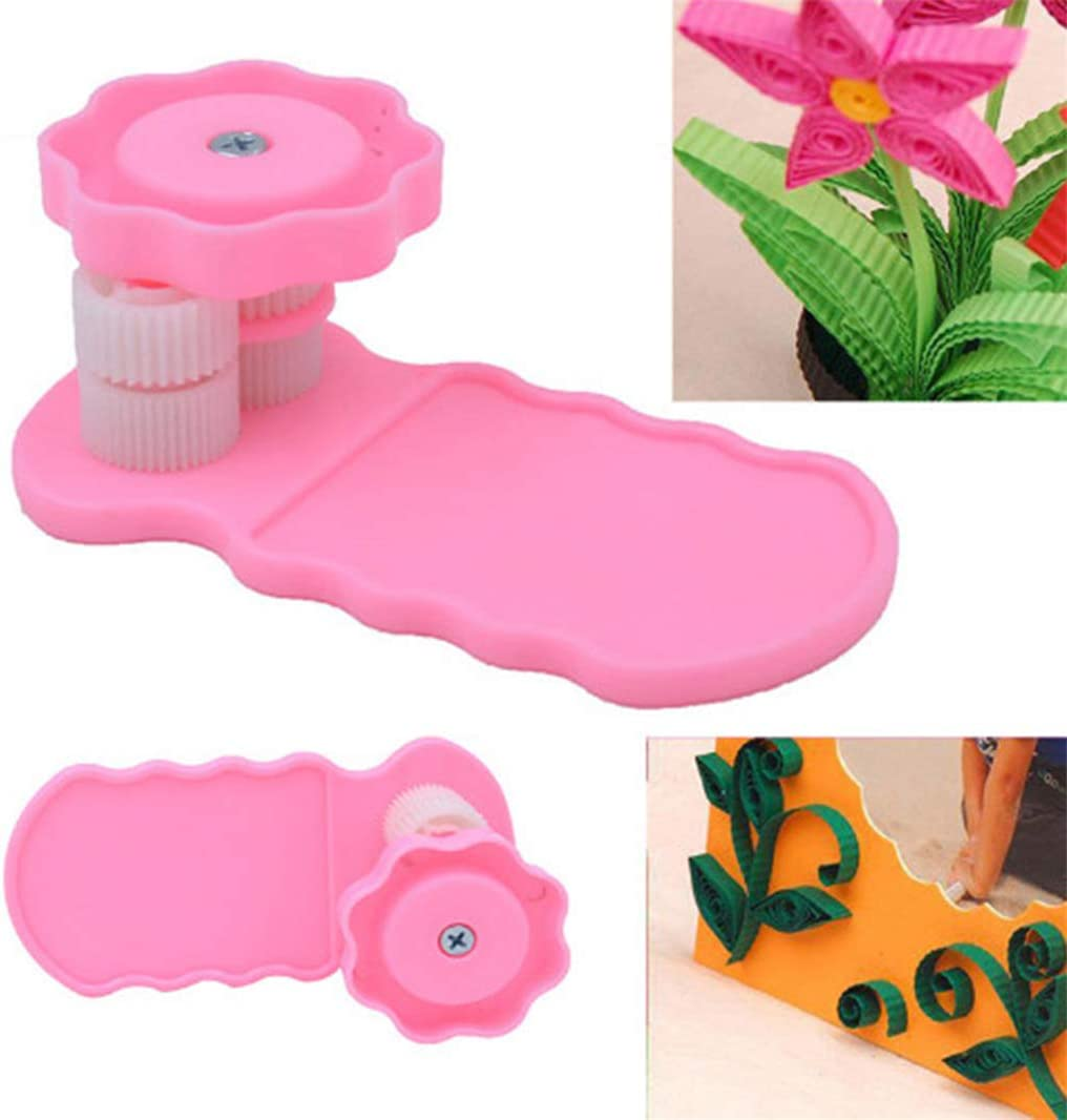 Huangyong Paper Quilling Crimper Tool Slip Wave Shaper Making Tool Origami Craft DIY Quilling Supplies Handmade Papercraft,Rose Red