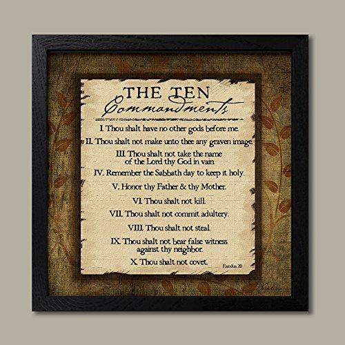 The Ten Commandments - Poster by Jennifer Pugh One Black Framed Image