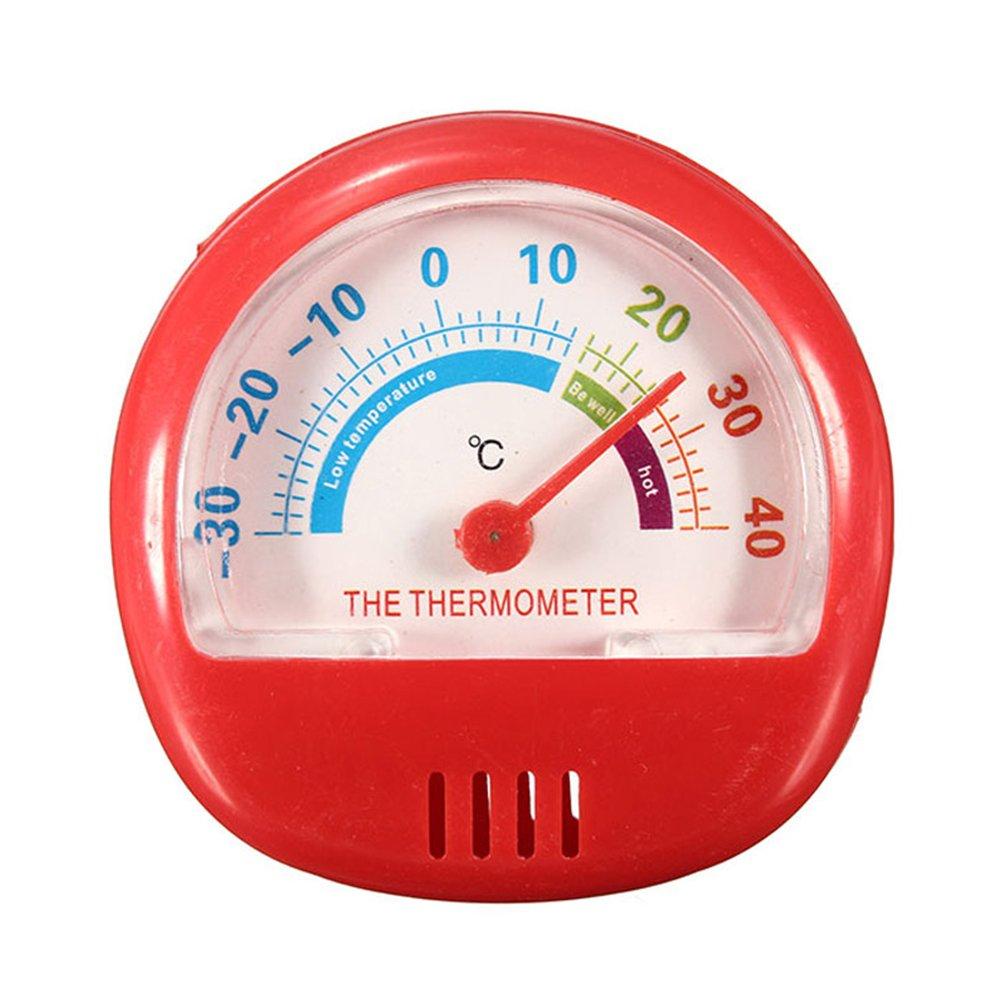 GEZICHTA termometro frigorifero, -30℃ a 40℃ puntatore quadrante termometro da frigorifero frigo, freezer cucina temperatura ambiente, Orange, Taglia libera