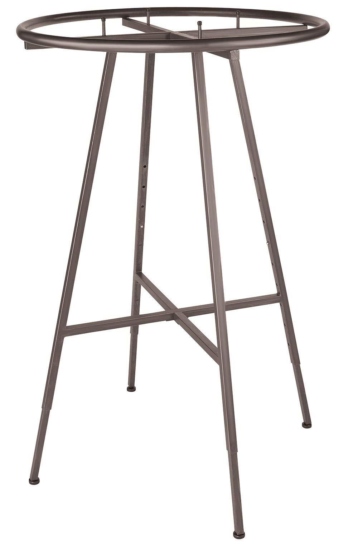 SSWBasics Round Clothing Rack - Raw Steel (48''-72'' H Adjustable 3'' increments)