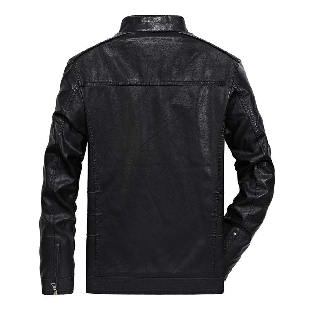 Mens Hoodies Zip Up Big and Tall.Fashion Mens Autumn Winter Casual Pocket Button Thermal Leather Jacket Top Coat