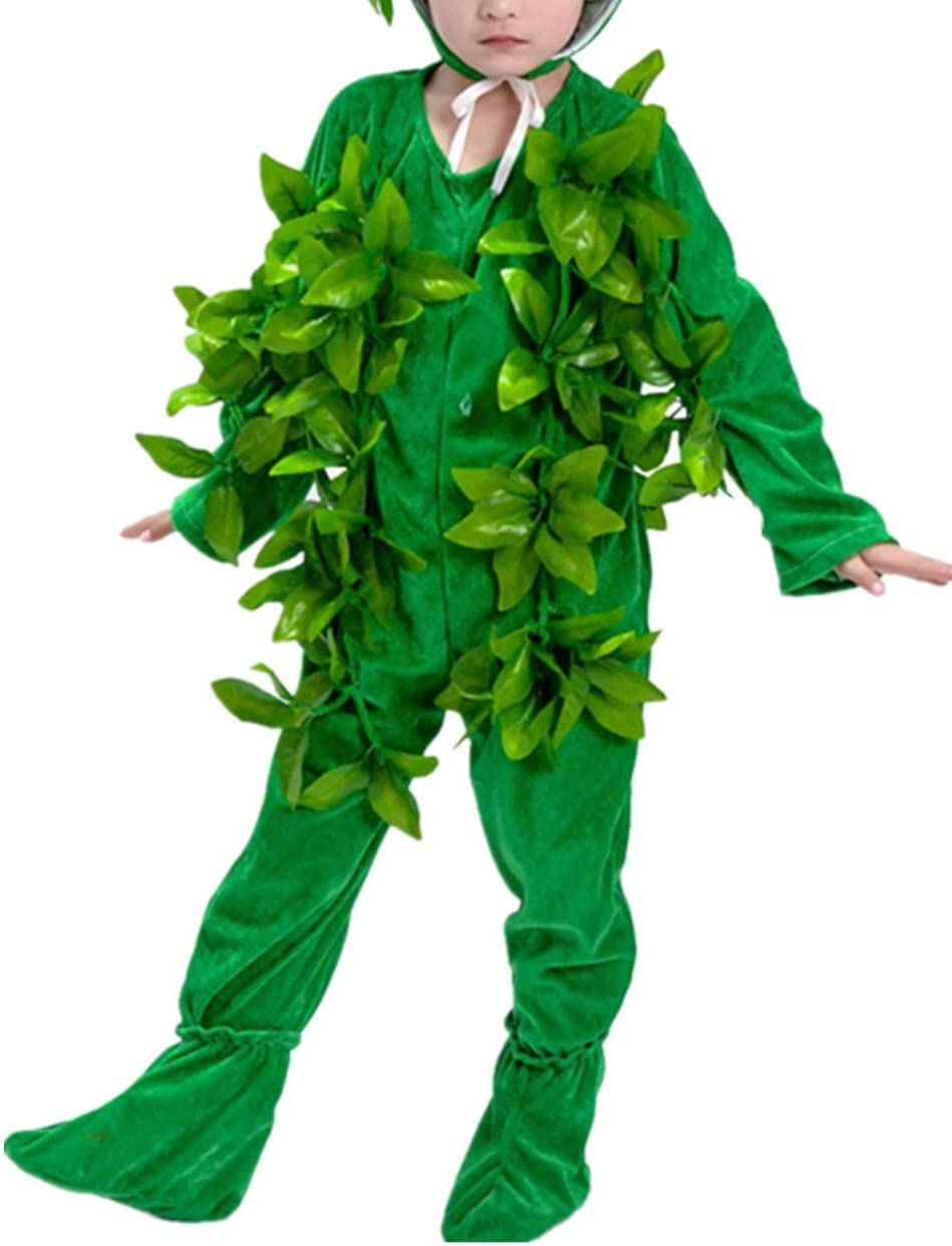 KRUIHAN Ropa Niños Árbol Grande Performance - Etapa del Partido de Cosplay de Halloween Prop Unisex(Verde Largo 140CM)