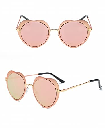 Mode Persönlichkeit Sonnenbrille Sonnenbrille Puder Rahmen Kirsche Pulver 77w5tFm