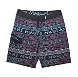 Maui and Sons Mens Surfside 4-Way Stretch Boardshort (32, Charcoal)