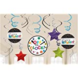 """Fun-Filled Retirement Party """"Happy Retirement"""" and """"Off the Clock!"""" Foil Swirl Decoration"""