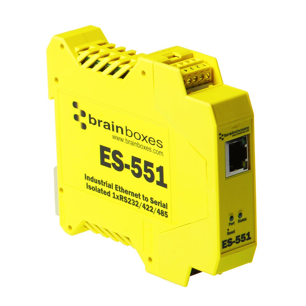 Brainboxes - Device Server - 10MB LAN, RS-232, RS-422, RS-485 (ES-551)