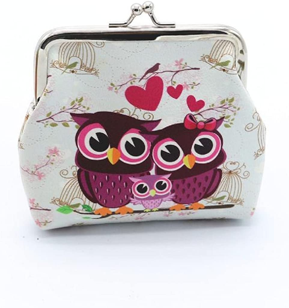 UK New Women/'s,Kids Owl Print Faux Leather Mobile Phone /& Coin Purse For Ladies