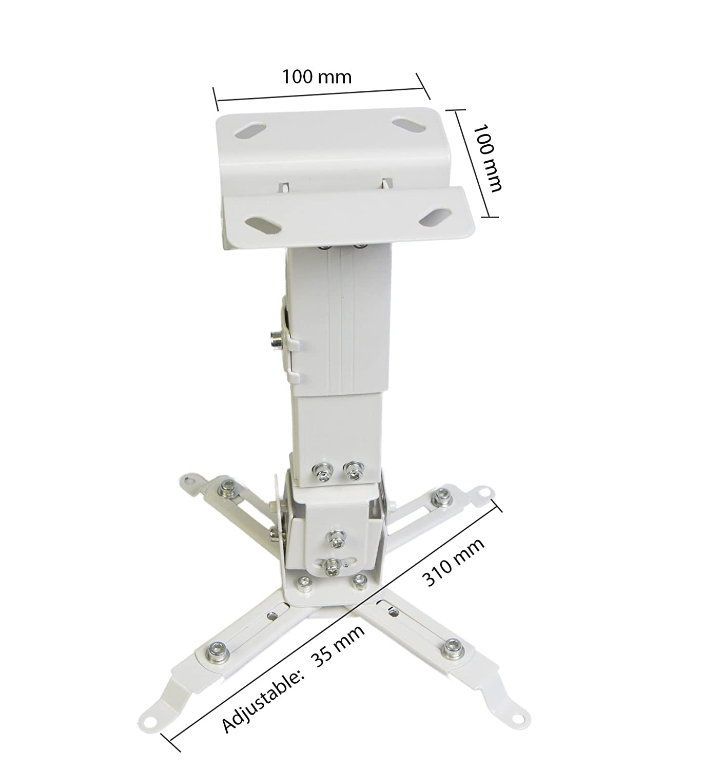 White Luxburg/® Aluminium Universal Wall//Ceiling Mounting Kit for Projector 10-20/cm/ 30 Degrees /Supports 15 kg