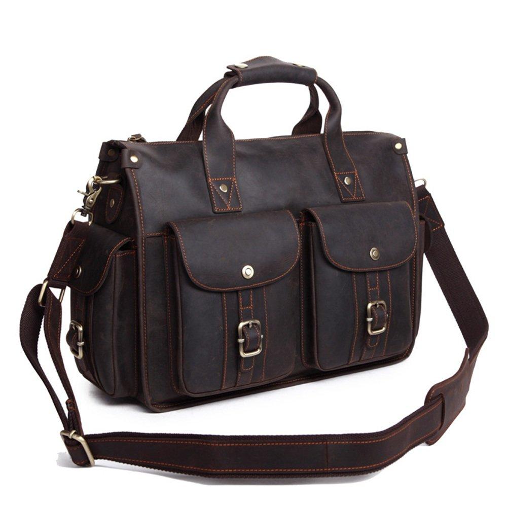 Dark Brown LBYMYB Mens Handbag Mens Crossbody Briefcase Computer Bag Business Briefcase 40x30x14.5cm Business Briefcase