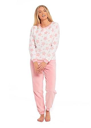 b717eca47c Daisy Dreamer Ladies Stars Fleece Pyjama Set Twosie
