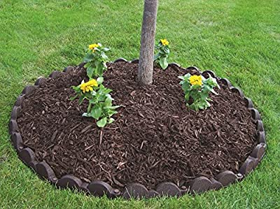Valley View Industries 20 ft., 12 in. Pieces Dark Brown Rubber Edging