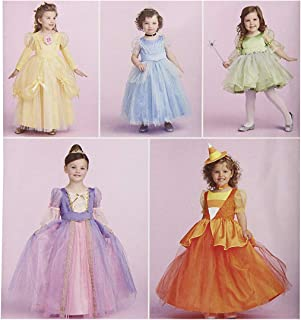 product image for Simplicity 1303 Girl's Halloween Costume Princess Dress Sewing Pattern, Sizes BB (3-6)