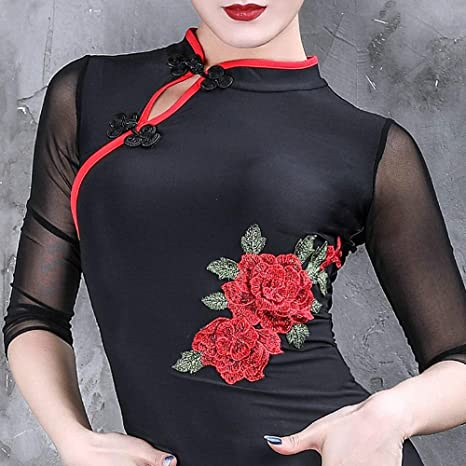 WCZZ Traje de la danza latina de la hembra adulta Dance ...